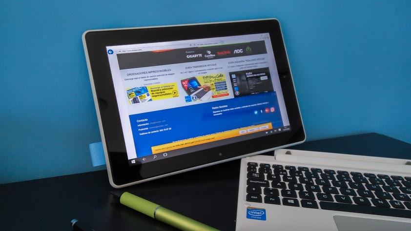 modo tablet horizontal